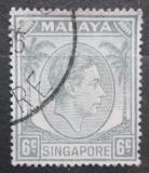 Poštovní známka Singapur 1952 Král Jiří VI. Mi# 6 C