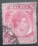 Poštovní známka Singapur 1950 Král Jiří VI. Mi# 9 C