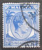 Poštovní známka Singapur 1950 Král Jiří VI. Mi# 11 C