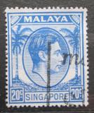 Poštovní známka Singapur 1952 Král Jiří VI. Mi# 13