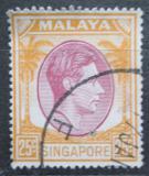 Poštovní známka Singapur 1950 Král Jiří VI. Mi# 14 C