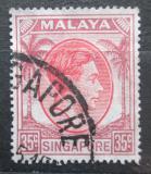 Poštovní známka Singapur 1952 Král Jiří VI. Mi# 15