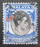 Poštovní známka Singapur 1948 Král Jiří VI. Mi# 17 A