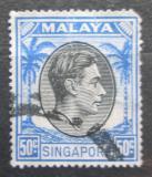 Poštovní známka Singapur 1950 Král Jiří VI. Mi# 17 C