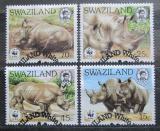 Poštovní známky Svazijsko 1987 Nosorožec, WWF Mi# 528-31 Kat 16€
