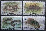 Poštovní známky Jamajka 1984 Hadi, WWF 019 Mi# 591-94 Kat 70€
