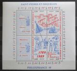 Poštovní známky St. Pierre a Miquleon 1989 Francouzská revoluce Mi# Block 2