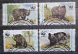 Poštovní známky Pakistán 1989 Medvědi, WWF 088 Mi# 759-62