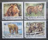 Poštovní známky Jugoslávie 1988 Medvěd, WWF 059 Mi# 2260-63 Kat 10€