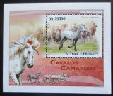 Poštovní známka Svatý Tomáš 2010 Koně Mi# 4364 Block