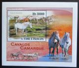 Poštovní známka Svatý Tomáš 2010 Koně Mi# 4365 Block