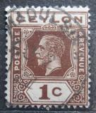 Poštovní známka Cejlon 1920 Král Jiří V. Mi# 165