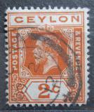 Poštovní známka Cejlon 1911 Král Jiří V. Mi# 166