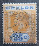 Poštovní známka Cejlon 1911 Král Jiří V. perfin Mi# 172