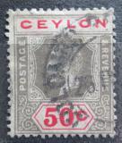 Poštovní známka Cejlon 1911 Král Jiří V. Mi# 174