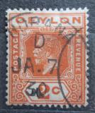 Poštovní známka Cejlon 1927 Král Jiří V. Mi# 186