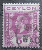 Poštovní známka Cejlon 1927 Král Jiří V. Mi# 189