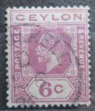 Poštovní známka Cejlon 1921 Král Jiří V. Mi# 191