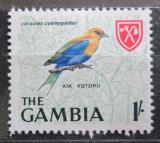 Poštovní známka Gambie 1966 Mandelík modrobřichý Mi# 217
