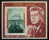 Poštovní známka Manáma 1971 Prezident Kennedy a Bílý dům Mi# Block 159