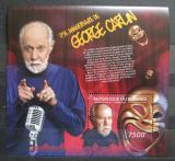 Poštovní známka Burundi 2012 George Carlin, americký herec Mi# Block 255 Kat 9€