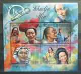 Poštovní známky Burundi 2012 Khadja Nin, zpěvačka Mi# 2685-88 Kat 10€