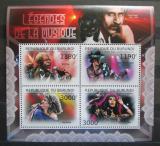 Poštovní známky Burundi 2012 Hudební legendy Mi# 2700-03 Kat 10€