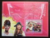 Poštovní známka Komory 2009 Slavné herečky Mi# Block 499 Kat 15€