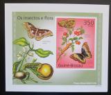 Poštovní známka Guinea-Bissau 2010 Hmyz a flóra neperf. DELUXE karton Mi# 5081 B