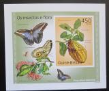 Poštovní známka Guinea-Bissau 2010 Hmyz a flóra neperf. DELUXE karton Mi# 5082 B
