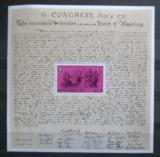 Poštovní známka Seychely 1976 Americká revoluce, 200. výročí Mi# Block 7 Kat 10€