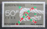 Poštovní známka Niger 1968 EUROPAFRIQUE Mi# 188