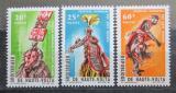 Poštovní známky Horní Volta 1966 Festival afrického umění Mi# 182-84