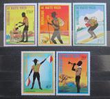 Poštovní známky Horní Volta 1973 Skauti Mi# 452-56
