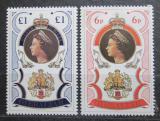 Poštovní známky Gibraltar 1977 Královna Alžběta II. Mi# 346-47