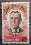 Poštovní známka Grenada 1978 Prezident Woodrow Wilson Mi# 867