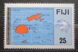 Poštovní známka Fidži 1984 Mapa ostrovů Mi# 503