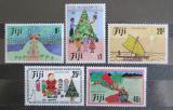 Poštovní známky Fidži 1984 Vánoce, dětské kresby Mi# 512-16