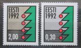 Poštovní známky Estonsko 1992 Vánoční stromek Mi# 195-96