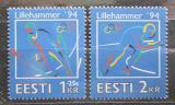Poštovní známky Estonsko 1994 ZOH Lillehammer Mi# 221-22