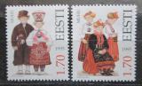 Poštovní známky Estonsko 1995 Lidové kroje Mi# 248-49