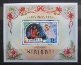 Poštovní známka Kiribati 1993 Vánoce přetisk Specimen Mi# Block 22 Kat 12€