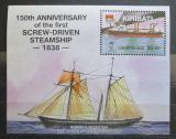 Poštovní známka Kiribati 1988 Plachetnice Logistic Ace Mi# Block 14