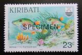 Poštovní známka Kiribati 1991 Ryby, přetisk SPECIMEN Mi# 570