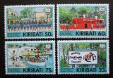 Poštovní známky Kiribati 1992 Centrum námořnictva, přetisk SPECIMEN Mi# 591-94