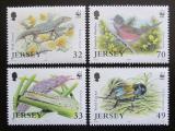 Poštovní známky Jersey, Velká Británie 2004 Ohrožená fauna, WWF Mi# 1143-46