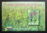Poštovní známka Jersey, Velká Británie 2003 Divoká orchidej Mi# Block 38