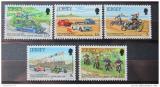 Poštovní známky Jersey, Velká Británie 1980 Auto-moto závody Mi# 223-27
