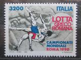 Poštovní známka Itálie 1990 Řecko-římský zápas Mi# 2160 Kat 4.50€