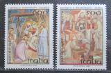 Poštovní známky Itálie 1987 Vánoce, umění Mi# 2026-27